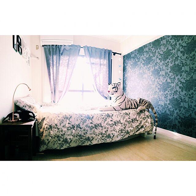 Bedroom,ぬいぐるみ,シェルモチーフ,クラシック,walpa,壁紙,ブリティッシュスタイルが好き,IKEA,DIY,surf,WTWSURFCLUB,Francfranc,FlyingTiger,WTW HALUの部屋