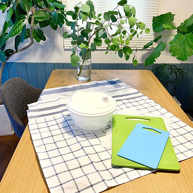 ユーカリ,観葉植物,まな板,キッチンクロス,IKEA,キッチンの工夫,夏の模様替え,おうち時間,ナチュラルインテリア,Kitchen blueberryの部屋