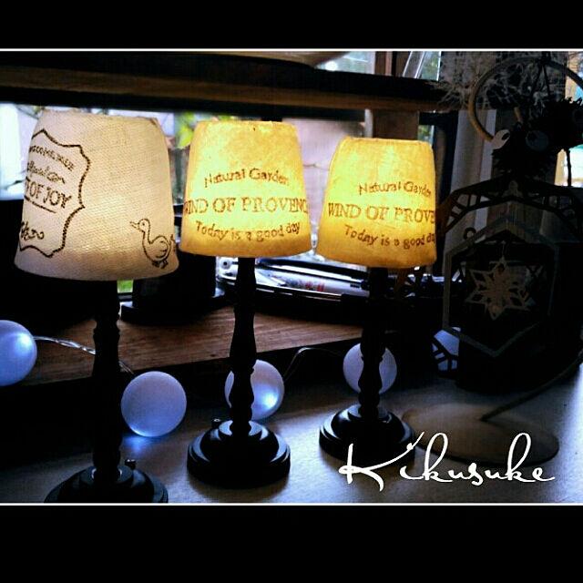 My Desk,大切なもの,ありがとう♡,ホワイトシャビー,シャビーホワイト,フレンチシャビーシック,ケチケチ同盟,けしごむはんこ,100均,リメイク,ダイソー,ダイソーライト,アンティークライト,ダイソーアンティーク調ライト kikusukeの部屋