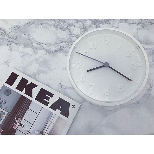 My Desk,掛け時計リメイク,掛け時計,時計,新商品買ったよ!,IKEA,海外インテリアに憧れる,ホワイトインテリア saooo39の部屋
