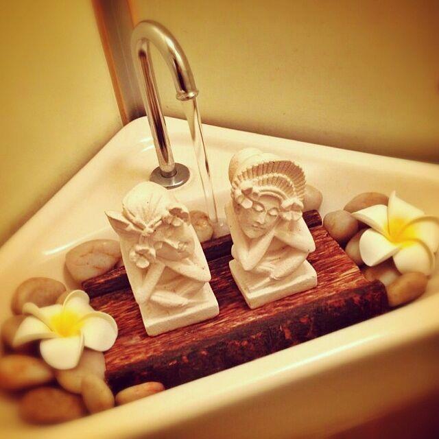 Bathroom,プルメリア,アジアン,アジアン雑貨,パラス石,バリ雑貨,バリ風なお部屋 gokizou2の部屋