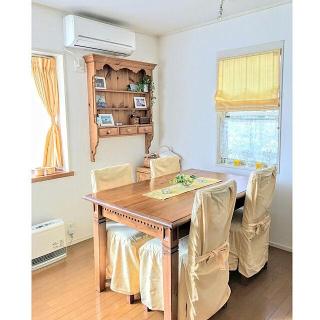 My Desk,イエロー,季節を感じる暮らし,色を楽しむ,ナチュラルインテリア,季節を愉しむ,ダイニング,パイン家具,IKEA hiyo.pietの部屋