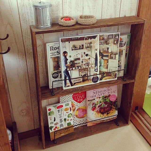 Kitchen,手作りブックシェルフ♡,DIY,BRIWAX♡,納戸をKitchenに!,キッチン改造中♡ emikkoの部屋