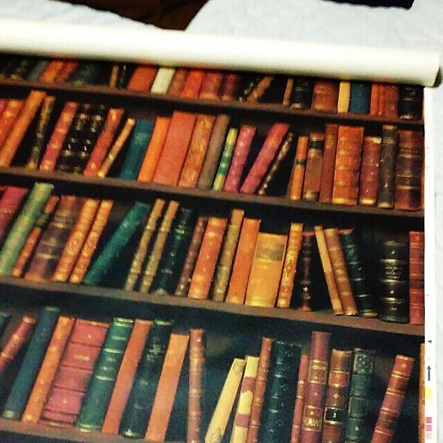 My Shelf,本棚風壁紙,かべがみや本舗さん,団地 DIY syungikuの部屋