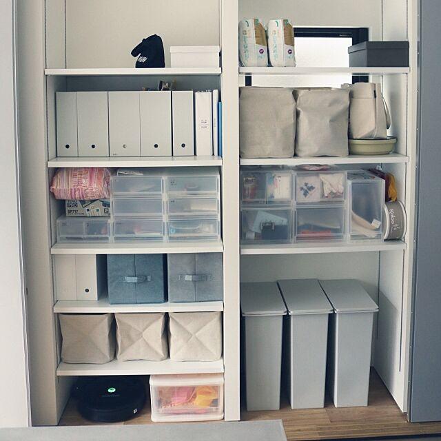 My Shelf,おもちゃ収納,ルンバ基地,ルンバ,無印良品,ゴミ箱,キッチン収納,稼働棚,造作収納,かくす収納 Qrockの部屋