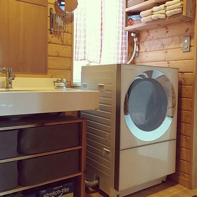 Bathroom,洗面台下収納,ランドリー,洗濯機周り,洗濯機,キューブル,棚DIY,BESSの家,木の家,DIY,DULTON,無印良品,多肉植物,Panasonic myoznの部屋