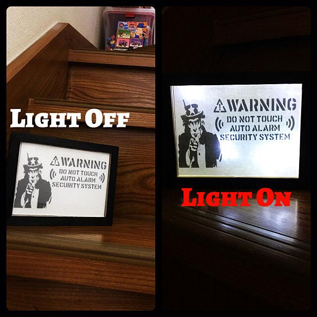 Overview,ライトボックスDIY,ライトボックス,100均,DIY,セリア,アメリカン雑貨,男前,照明 Takuminの部屋