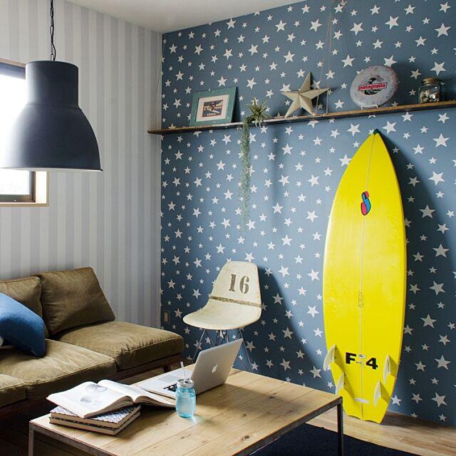 Overview,壁紙,ストライプ,星,子供部屋,壁紙屋本舗 kabegamiyahonpoの部屋