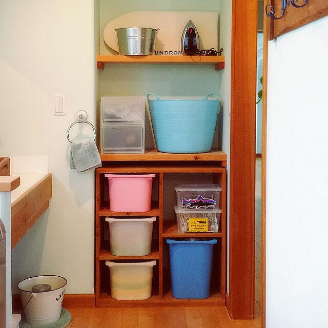 Bathroom,棚DIY,DIY,シンデレラフィット,IKEA,トロファスト,タブドラッグス,バケツ,無印良品,niko and…,DBK,DBK社,DBKアイロン,アイロン,アイロン台,LAUNDROMAT&TUB,タオルハンガー,DULTON,ダルトン,タオル収納,入浴剤,入浴剤収納,いいね!ありがとうございます♪ hanaの部屋