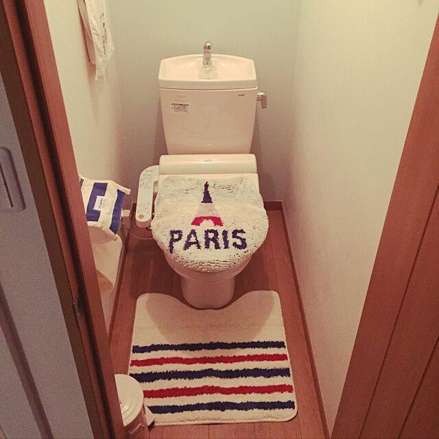 Bathroom,マリンテイスト,エッフェル塔が好き。,トイレカバー,ニトリ 375の部屋