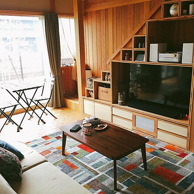 造作棚,テレビボード,階段下収納,掃除,無垢の床,木の家,珪藻土の壁,Lounge d0ramiの部屋