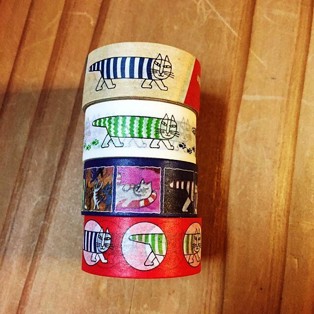 My Desk,ペットボトルのおまけ,マスキングテープ,リサラーソンのネコ,リサラーソン,リサラーソン マステ,北欧好き,北欧 haru0_44の部屋