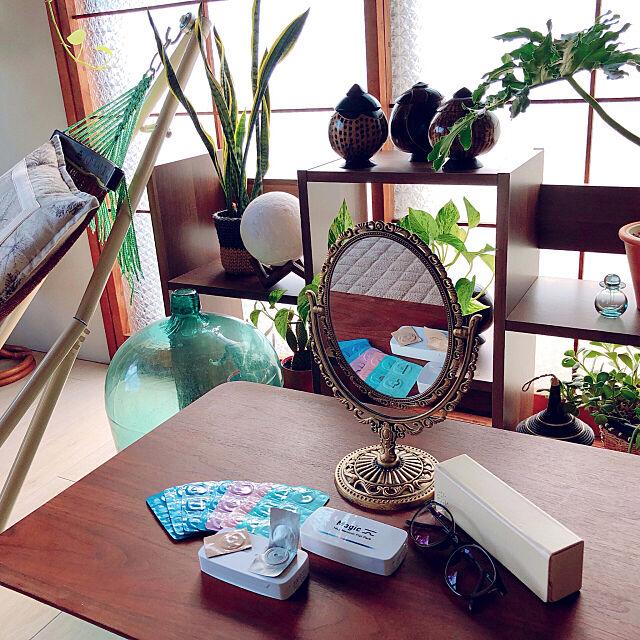 1DAYレンズ,メニコン,Magic,Miru,コンタクトレンズ,収納,グリーンのある暮らし,ナチュラル,カフェ風,ミックスインテリア mugijunの部屋