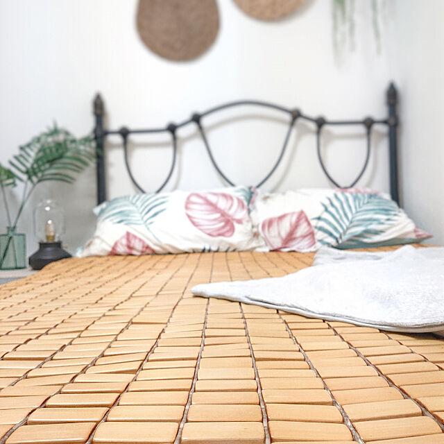 Bedroom,ひんやりグッズ,竹ドミノシーツ,暑さ対策,天然素材,Nクール ruの部屋