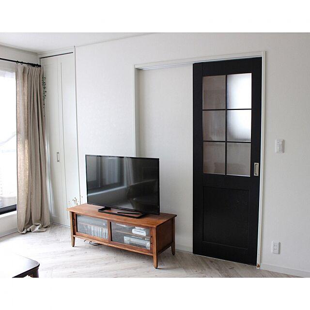 Lounge,テレビボード,引き戸リメイク,引き戸,ドアリメイク hibikiの部屋