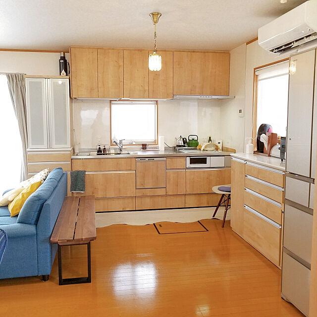Kitchen,LIXIL,リノベーション,海外インテリアに憧れる,こどものいる暮らし,整理整頓,どーにかし隊,すっきり暮らしたい,シンプルな暮らし,アレスタ,ライトグレイン,壁付けキッチン pondyの部屋