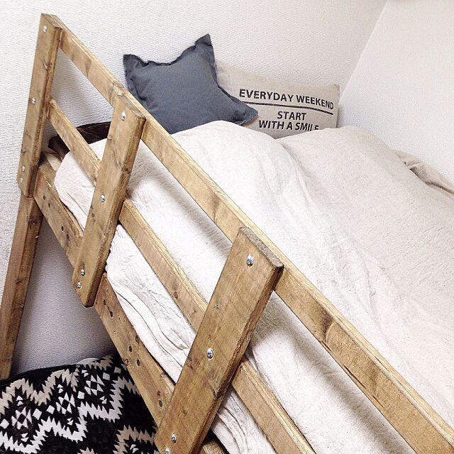 Bedroom,手作り,キッズルーム,子供部屋,ベッド,クッション,ニトリ,西海岸インテリア,セルフリフォーム,DIY,カリフォルニアスタイル,4年生男子 Maiの部屋