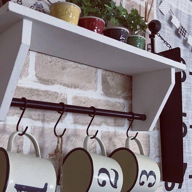 Kitchen,サリュ,キッチン雑貨,ホーローマグ,ホーロー,白黒病,ダイソー,セリア,数字雑貨 mya_kkの部屋
