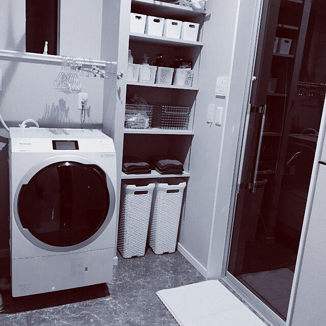 脱衣所収納棚,脱衣所,洗濯機周り,ドラム式洗濯機,暮らしを変えたもの,Bathroom,Panasonic tomotomomoの部屋