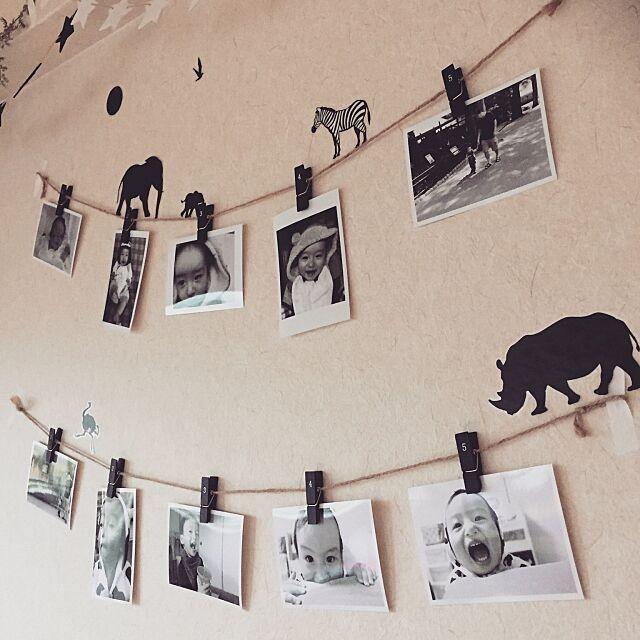 On Walls,モノクロ,モノクロ写真,こどもと暮らす。,ナチュラル,セリア,100均,賃貸 Akaneの部屋
