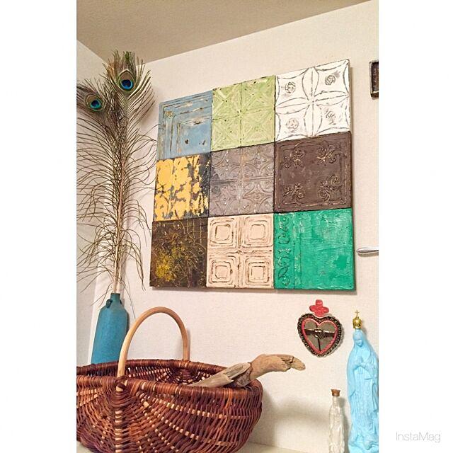 Entrance,飾るように暮らす,パンチのある物作りを目指す!,賃貸でも楽しく♪,メキシカン,ネイティヴ,ハンドメイド,H.P.DECO,romiさん,ティンタイル,オブジェ kazaruyo-niの部屋