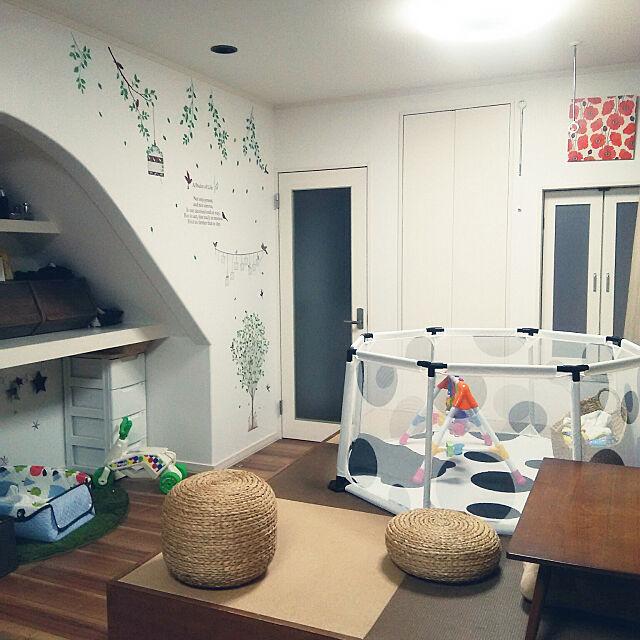 Lounge,子供と暮らす,ニトリ,キッズコーナー,キッズスペース,ベビーサークル,ベビースペース,こあがりスペース,赤ちゃんのいる暮らし Nashuryueの部屋