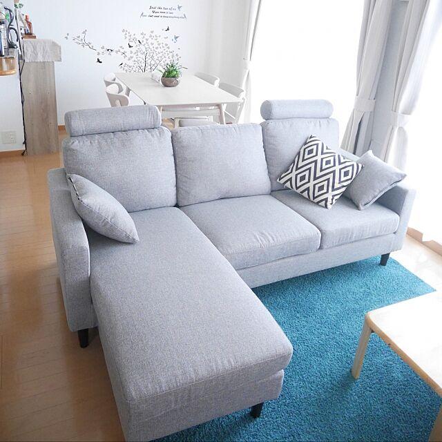 Overview,ナチュラル,北欧,ソファ,モダンデコ yuki.kamiya5の部屋