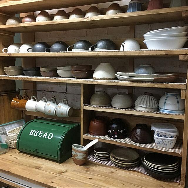My Shelf,お皿が増えました❤️,元々はシルバーのレンジボード,あおいろ工房さんの器,和食器,見せる収納に憧れる,ハンドメイド♡,棚DIY,RCの出会いに感謝♡,配置見直し konnakanjiの部屋