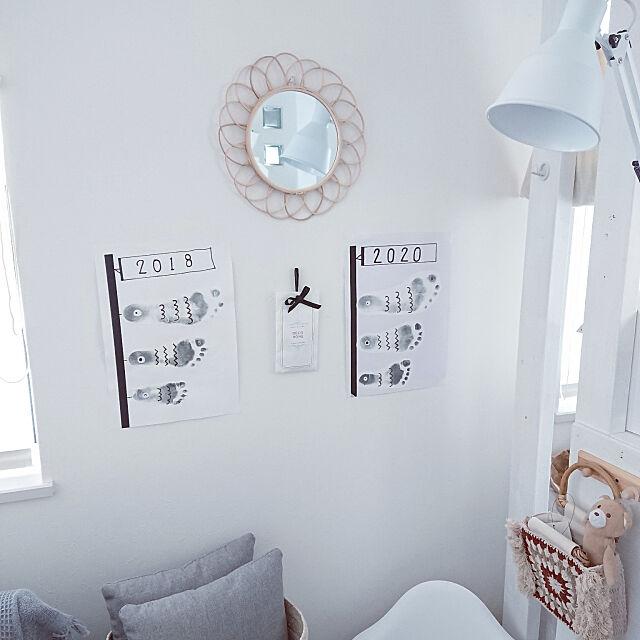 On Walls,ディスプレイコーナー,足形アート,鯉のぼり,こいのぼり,こどもの日 maaの部屋