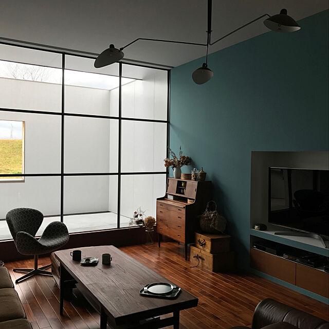 Lounge,照明,ミナペルホネン,北欧ビンテージ家具,スワンチェア,北欧,雑貨,ドライフラワー nemu_nemu97の部屋