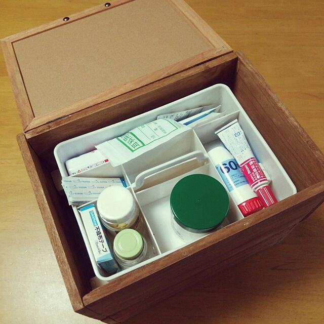 My Desk,セリア,救急箱,100均リメイク,押し逃げばかりでごめんなさい,100均大好き,ダイソー,DIY hamukoの部屋