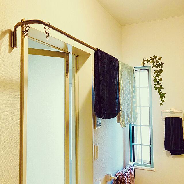 Bathroom,バスタオル掛け,IKEA kemurin-monrouの部屋
