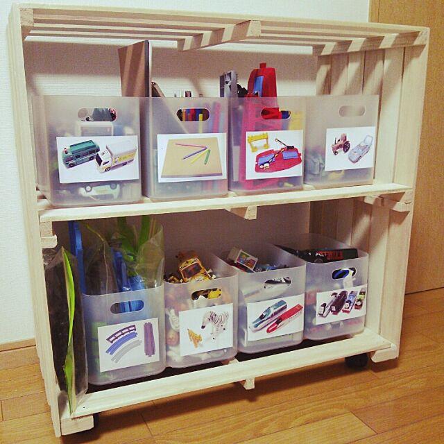 My Shelf,無印良品,セリア,おもちゃ収納,初めてのDIY,センスが欲しい!,すのこで棚作りました,片付けが苦手…,おかたづけ育始めました♡,IKEA mamemaruの部屋