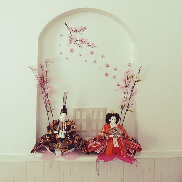 My Shelf,アールニッチ,ニッチ,ひな祭り,お雛様,雛人形,セリア,腰壁,100均 chii-miiの部屋