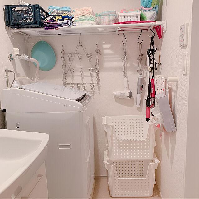 ビートウォッシュ,カインズ,突っ張り棒で棚,一人暮らし,ニトリ,シンプルな暮らし,大東建託 1LDK,100均,セリア,Bathroom Tiraの部屋