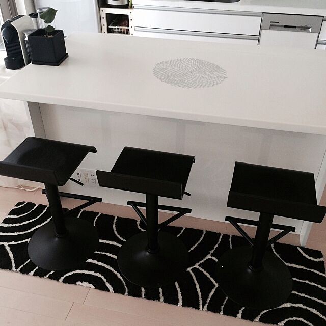 Kitchen,カウンターチェア,NESPRESSO,チルウィッチ,カウンター,ニトリ,IKEA,観葉植物 ttの部屋