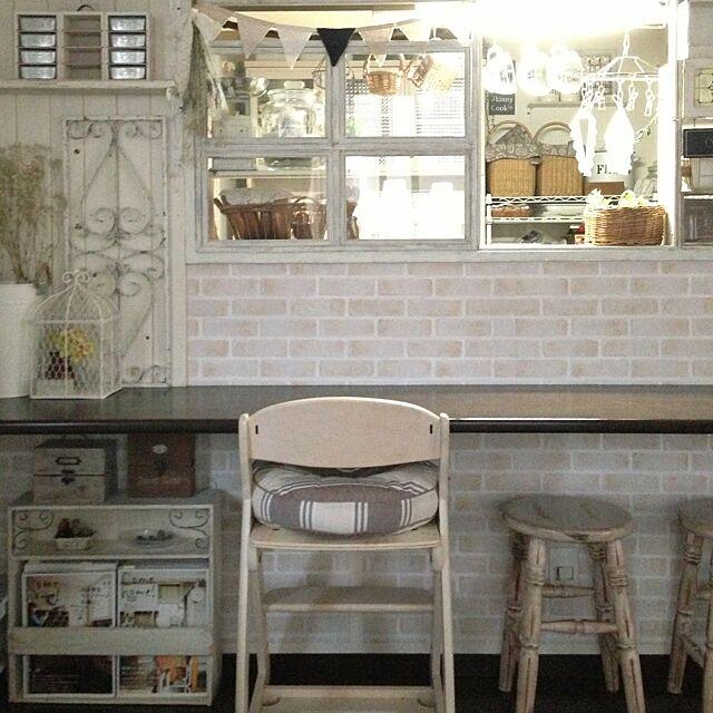 Lounge,皆さんありがとうございます♡,シャビーな雰囲気が好き,カウター,学習椅子 yu_chanの部屋