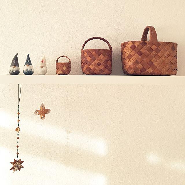 My Shelf,北欧,北欧雑貨,ドイツ生活,ナチュラル,雑貨,ハンドメイド,フィンランド,旅,白樺かご,白樺オーナメント,かご,IKEA luftmamaの部屋
