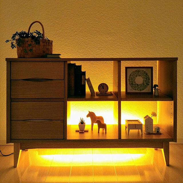 My Shelf,初投稿,北欧,unico,シェルフ,北欧インテリア,シンプルインテリア,間接照明 mippiの部屋