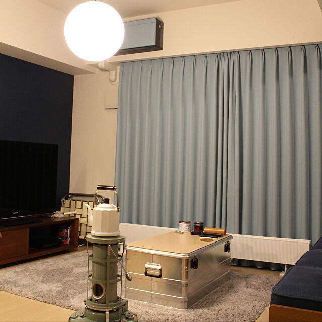 アラジンストーブ,unico,アクセントクロス,無印良品,Lounge,PFS tao_samaの部屋
