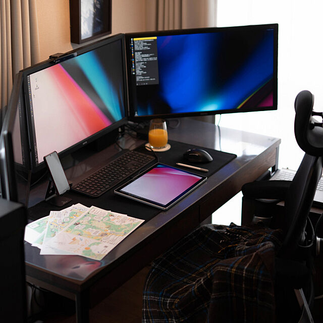 My Desk,お気に入り,一人暮らし,賃貸,1R,ひとり暮らし,ワークスペース,パソコン周り,デスク,オフィスチェア,パソコンデスク,PC,PCデスク周り sis0の部屋