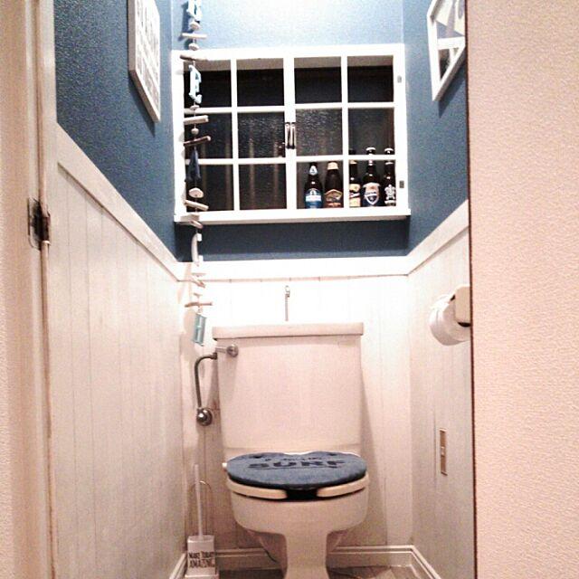 Bathroom,DIY,築30年超,ハワイ好き,HAWAII,海が好き,ハワイアン,ビーチハウスにしたい,ビーチテイスト,西海岸,窓枠,窓枠DIY Dolphinの部屋