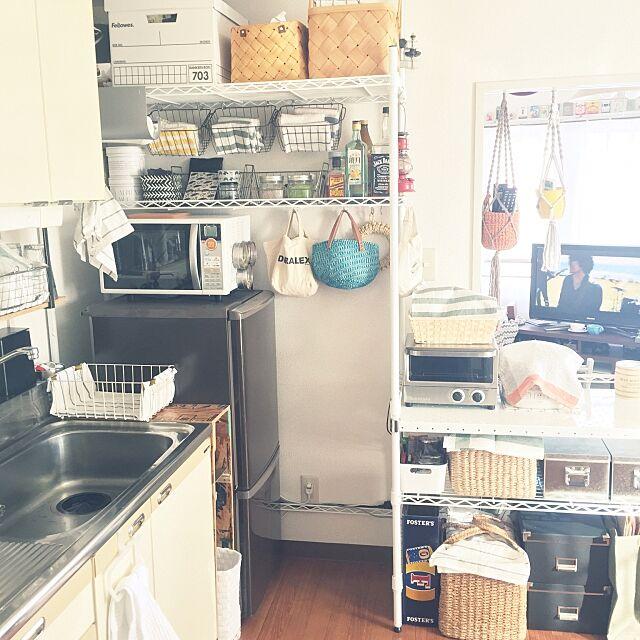 Kitchen,natural kitchen,vitantonio,メタルラック,山善座談会,スチールシェルフ,IKEA,無印良品,吊るす収納 riemの部屋