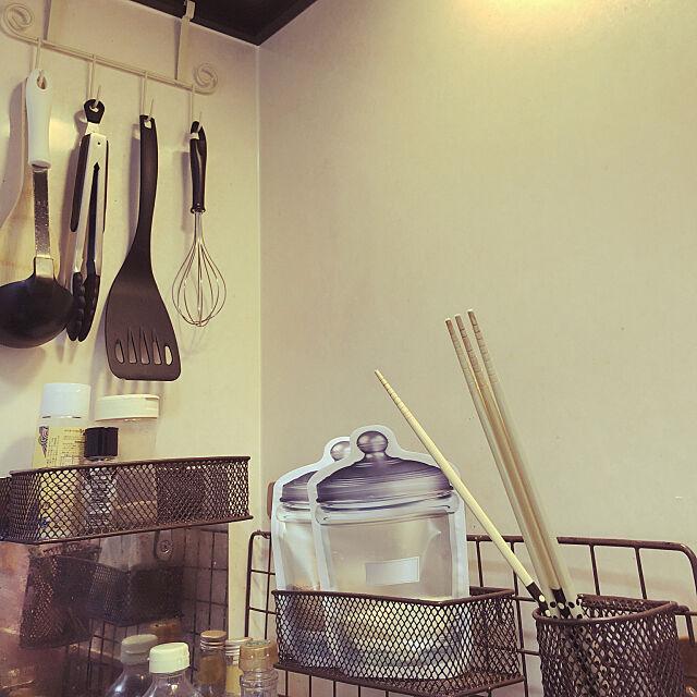 Kitchen,ジッパーバッグ収納,ジッパーバッグ,調味料収納,100均,セリア,キッチン収納 sayoの部屋