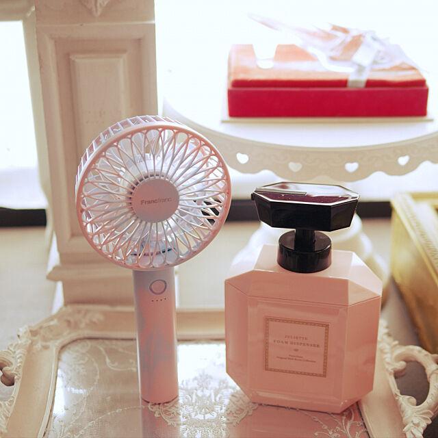 マントルピース,ミラートレイ,フランフラン,香水瓶型,扇風機,ハンディファン,Francfranc,My Shelf cocoa1031の部屋