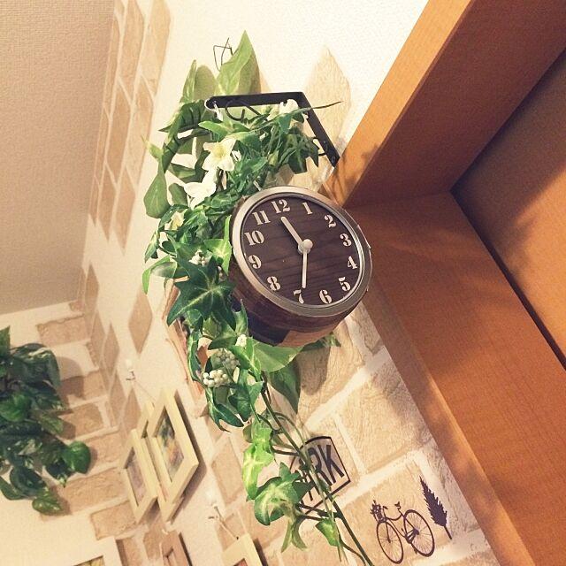 On Walls,両面時計,セリア,フェイクグリーン,こどもと暮らす,賃貸,ダイソー,マグネットケース,いいね!ありがとうございます♪ chocopafeの部屋
