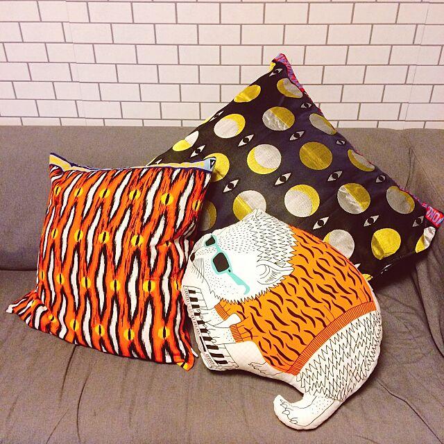 Lounge,IKEA部,IKEAクッション,限定品,コラボ,イケア,IKEA,クッションカバー,クッション,一人暮らし,壁紙DIY yukkkittyの部屋