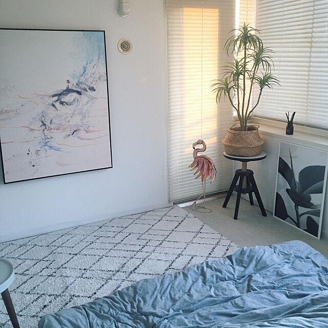 主寝室,ベッドルーム,アート,スカンジナビアンスタイル,北欧,海外インテリア好き,シンプルモダン,Boho×Scandinavian,NO GREEN NO LIFE,Bedroom k.home1224の部屋