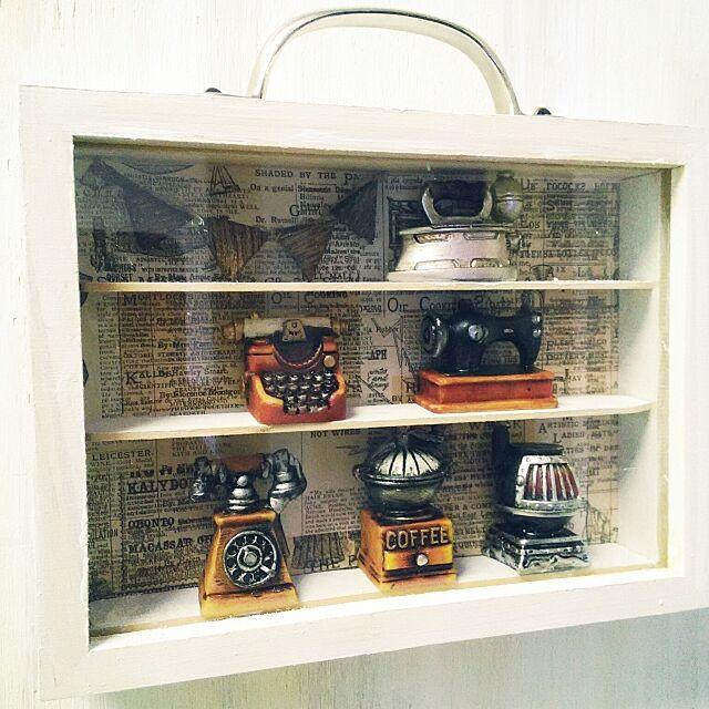 On Walls,セリアリメイク,セリア,木製写真立て両面タイプ,セリアミニチュア hiderinの部屋