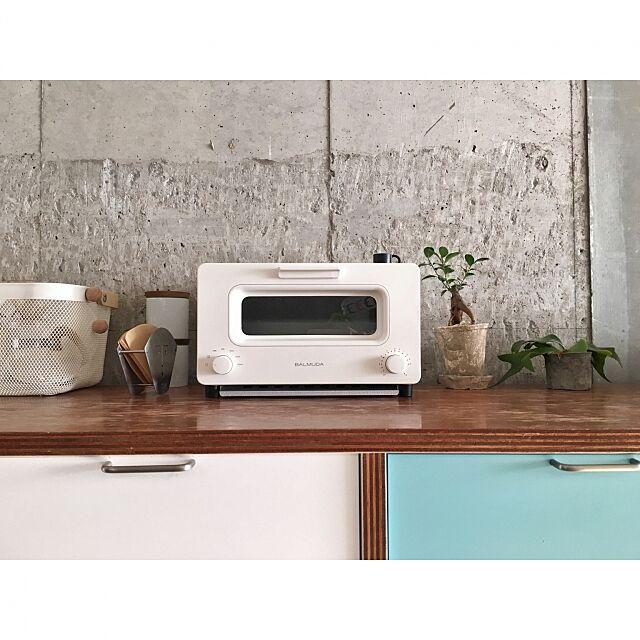Kitchen,GREENのある暮らし,green,北欧インテリア,北欧,ナチュラル,リノベーション,BALMUDA The Toaster,BALMUDA yukapekossの部屋
